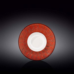 WILMAX SPLASH Тарелка обеденная 20см, цв.красный WL-667222 / A