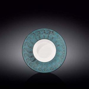 WILMAX SPLASH Тарелка обеденная 20см, цв.синий WL-667622/A