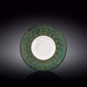 WILMAX SPLASH Тарелка обеденная 22,5см, цв.зеленый WL-667523/A