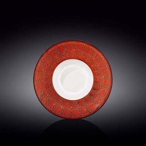WILMAX SPLASH Тарелка обеденная 22,5см, цв.красный WL-667223 / A