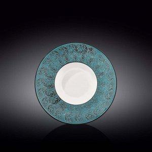 WILMAX SPLASH Тарелка обеденная 22,5см, цв.синий WL-667623/A