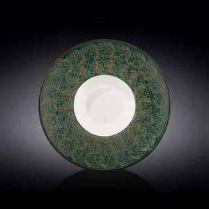 WILMAX SPLASH Тарелка обеденная 27см, цв.зеленый WL-667526/A