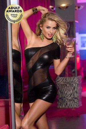 Платье Candy Girl Mya с открытым плечом, черное, OS