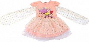 Платье для девочки персиковый