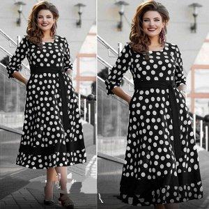 Платье Из ткани - софт, Самая необычно-красивая модель 2021 года, Длина платья от плеча 125-130см