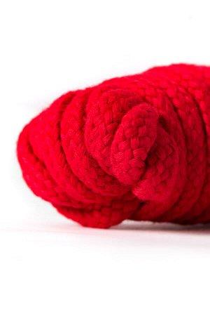 Веревка для бондажа Штучки-дрючки, текстиль, красная, 1000 см