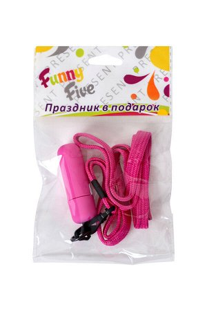 Вибратор Sexus Funny Five, ABS пластик, розовый, 5,5 см,1 шт.