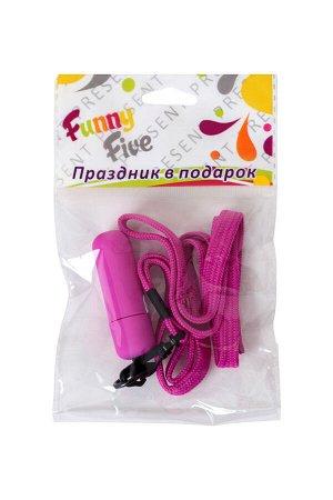 Вибратор Sexus Funny Five, ABS пластик, фиолетовый, 5,5 см, 1 шт