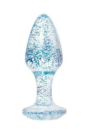 Анальная втулка TOYFA, акрил, голубой, 8 см, ? 2,8 см