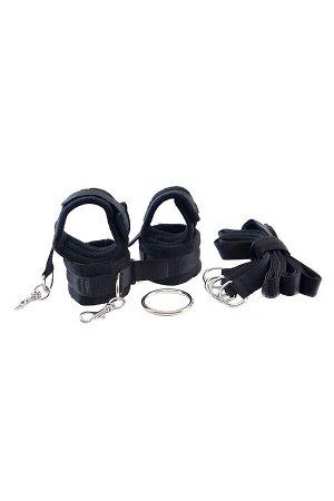 Комплект бондажный TOYFA Theatre (наручники, оковы на ноги, кольцо, 4 фиксирующих ремня) текстиль