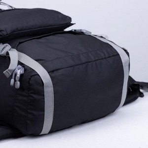 Рюкзак туристический, 40 л, отдел на молнии, 3 наружных кармана, цвет чёрный