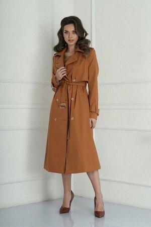 Плащ SandyNa 13926 коричневый