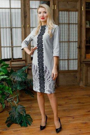 Платье Леди скок 013 серый