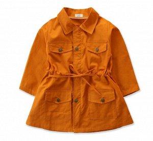Куртка для девочки с регулировкой, цвет оранжевый