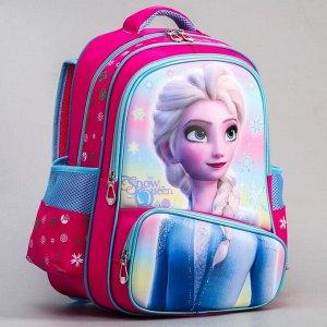 "Ранец с жестким карманом ""Snow queen"", Холодное сердце"
