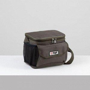 Сумка туристическая, отдел на молнии, наружный карман, 2 боковые сетки, цвет хаки