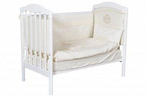 Кроватка Helen, колесо/качалка (белый)