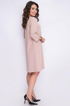 Платье Платье трапецевидного силуэта из костюмной ткани. 30% вискоза 65% п/э,5% эластан