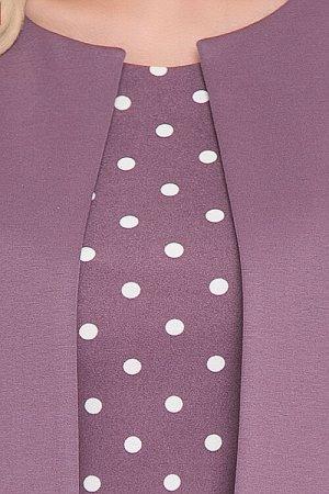 Комплект Комплект двухпредметный.Платье и жакет из трикотажного полотна. Состав: платье 30% вискоза,65% п/э,5% лайкра жакет 50% вискоза,45% п/э,5% лайкра
