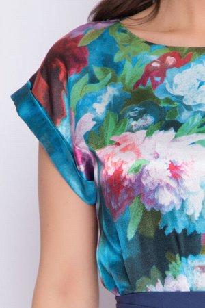 Платье Комбинированное платье из текстильного полотна. 30% вискоза 65% п/э,5% эластан