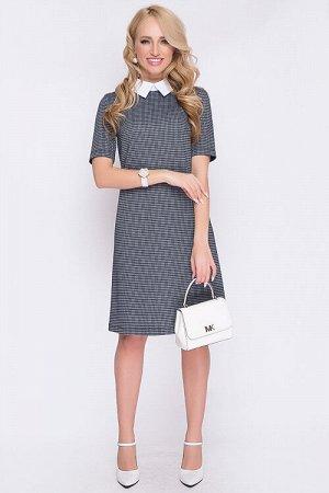 Платье Платье А-силуэта из трикотажного полотна дополнено воротничком на стойке с застежкой сзади. 50% вискоза,45% п/э,5% лайкра