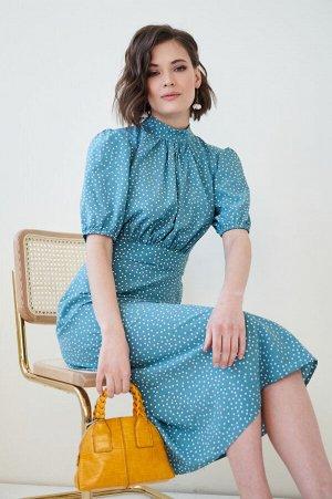 Платье Лалис №1.Цвет:морская волна