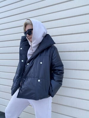 Куртка Auto lady Черный мат с глянцем