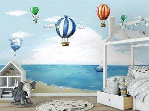 3D Фотообои «Морская акварель»