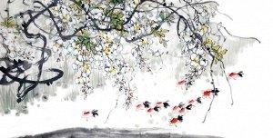 3D Фотообои  «Японские мотивы: Цветущее дерево»