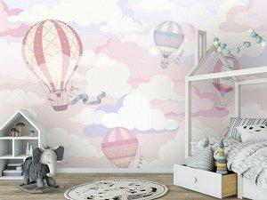 3D Фотообои «Воздушно-розовая фантазия»