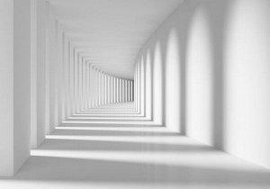3D Фотообои «Белый тоннель»