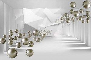 3D Фотообои «Абстракция с пузырями»