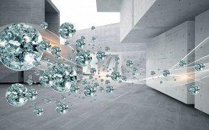 3D Фотообои «Поток драгоценных камней»