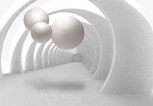 3D Фотообои «Жемчужины в арочном тоннеле»