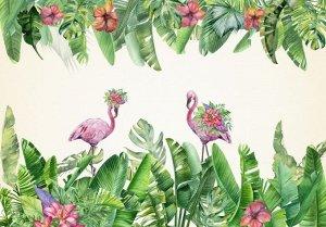 Фотообои Цветущие фламинго