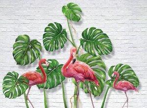 Фотообои Фламинго с монстерами