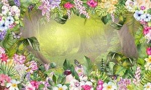Цветник в таинственном лесу