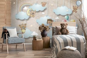 Фотообои «Мишки в облаках»
