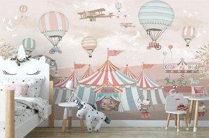 3D Фотообои «Цирк шапито»