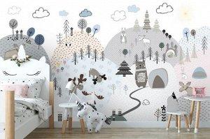 3D Фотообои «Скандинавская полянка»