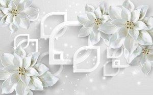 Фотообои Белоснежные фарфоровые цветы