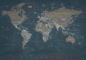 Фотообои Джинсовая карта мира