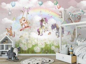 3D Фотообои «Облачная фантазия »