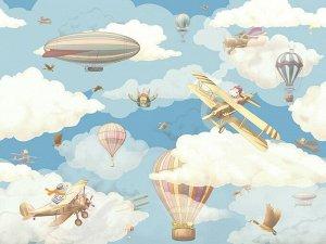 3D Фотообои «Облачная регата»