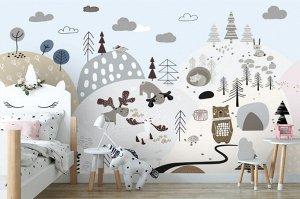 3D Фотообои «На лесной опушке»