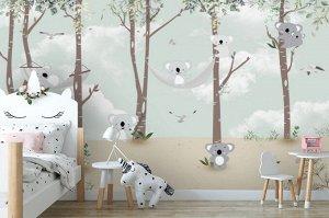 3D Фотообои «Забавные коалы»