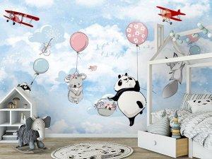 3D Фотообои «Веселый перелет»