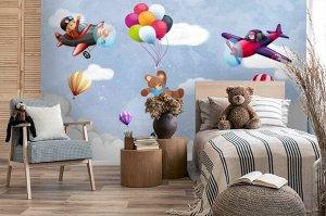 3D Фотообои «Веселые летчики»