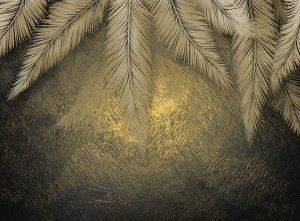 3D Фотообои «Пальмы на закате»