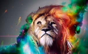 3D Фотообои «Царь зверей»